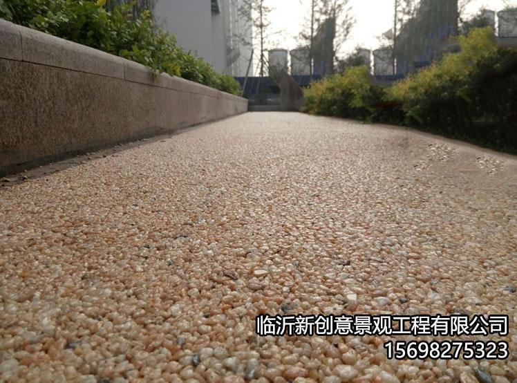 胶粘石透水地坪施工工序介绍