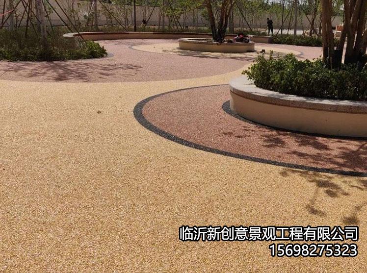 彩色胶粘石透水地坪结构分类